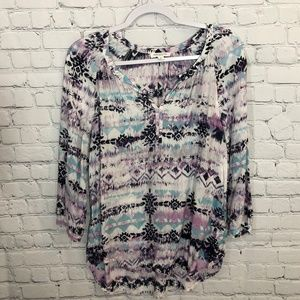 beachlunchlounge 3/4 Sleeve Peasant Top Small